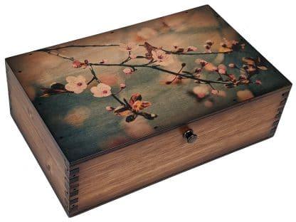 Cherry Blossom Medium Wood Box