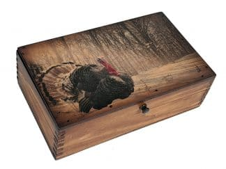 Winter Turkey Wooden Box