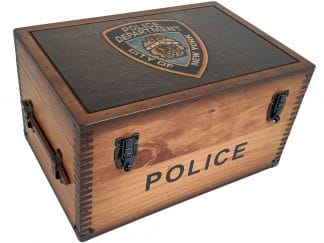 NYPD Patch Keepsake Box