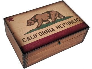 California State Flag Wood Box