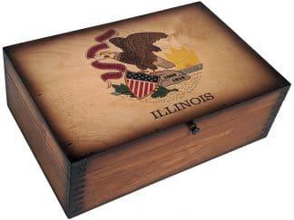 Illinois State Flag memory box