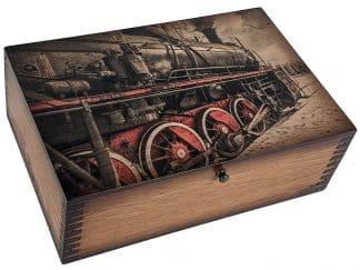 Black and Red Train Memory Box