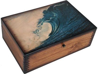 BLue Ocean Wave Memory Box