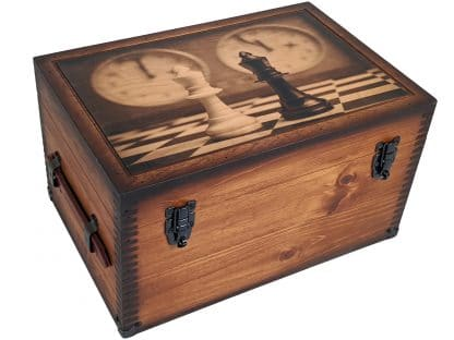 Chessboard Clock Keepsake Box
