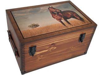 Lone Horse Wood Keepsake Box