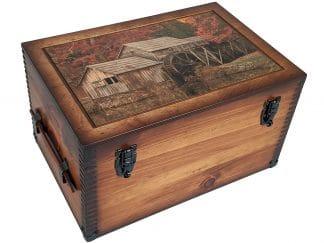 Mabry Mill Autumn Wood Box