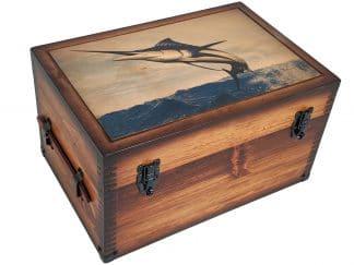 Marlin Jump Wooden Keepsake Box
