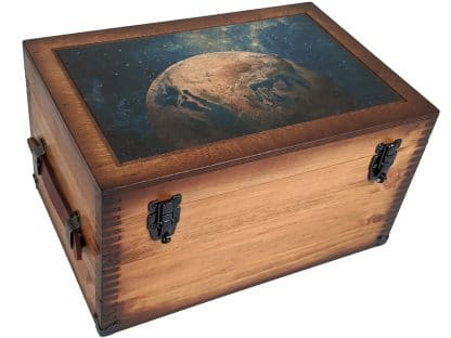 Planet Earth Wooden Keepsake Box