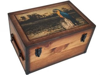 Parrot in Paradise Wood Keepsake Box