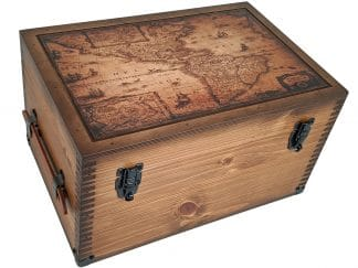 Vintage Map of America Keepsake Box