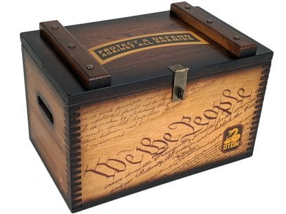 US Constitution Wooden Ammo Box