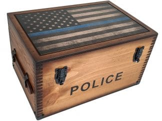 Police Thin Blue Line Keepsake Box