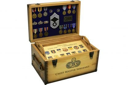Custom Military Retirement Keepsake Shadow Box Relic Wood
