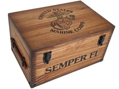 United States Marine Corps Keepsake Wooden Box