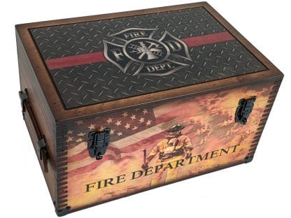 Firefighter Thin Red Line Keepsake Box