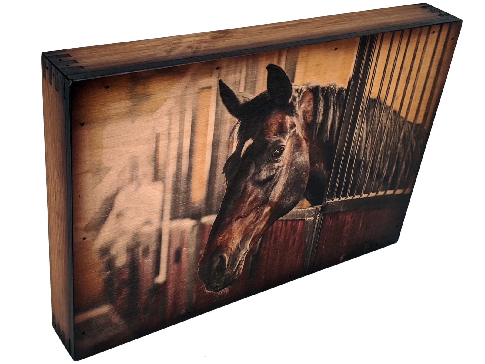 Majestic Horse In Stable Handcrafted Wall Art Relic Wood