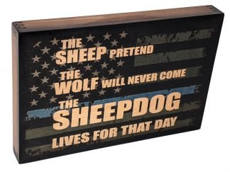 Sheepdog Police Thin Blue Line Wall Art