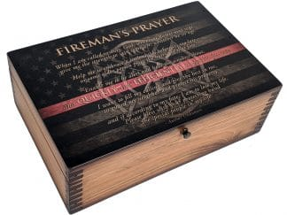 Firemans Prayer Memory Box