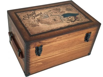 Skull Island Wooden Treasure Chest
