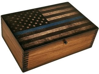 Thin Blue Line Memory Box