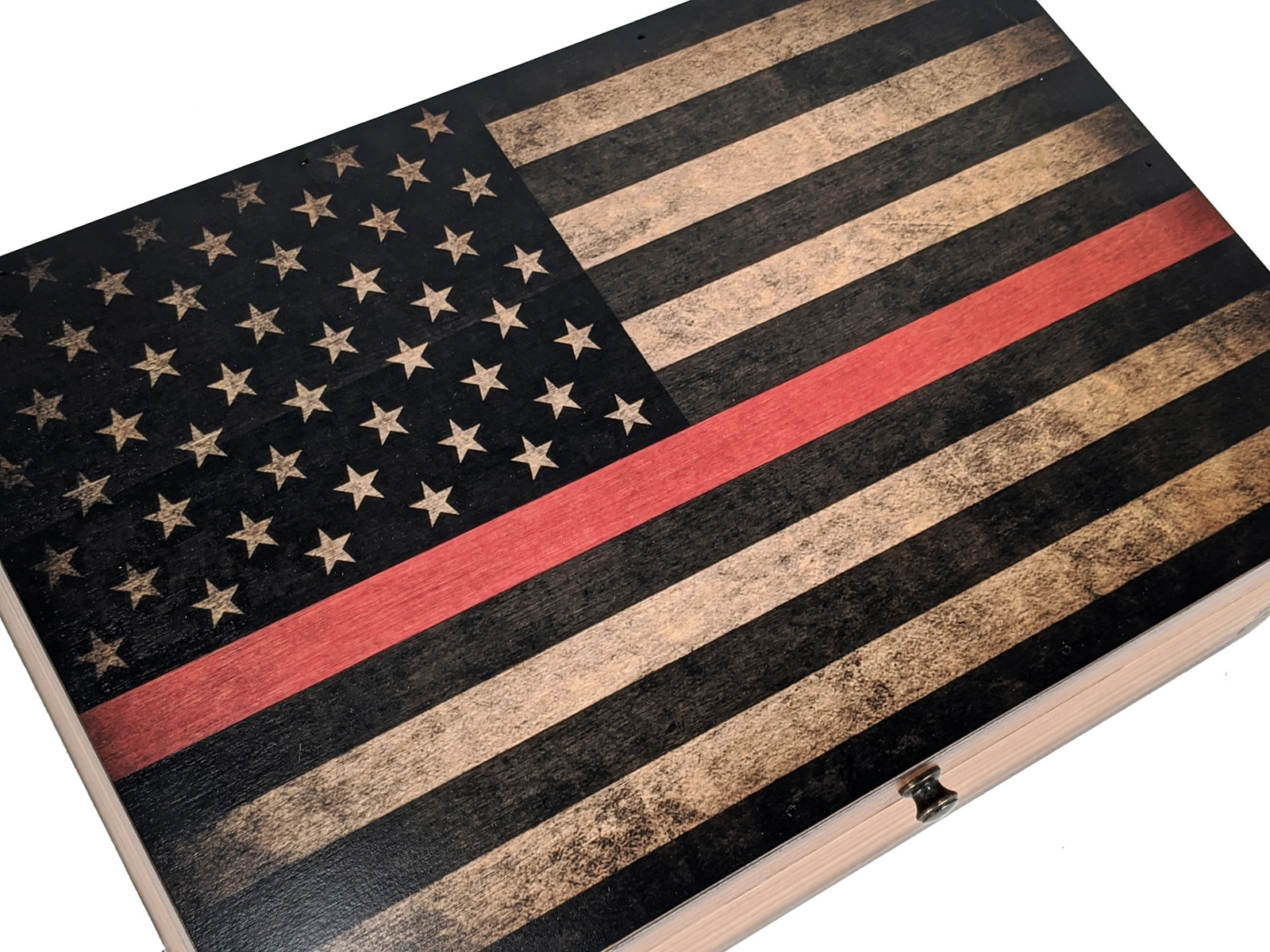 Thin Red Line Memory Box Relic Wood