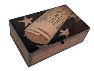 US Constitution Wood Box