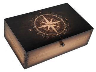 Golden Compass Rose Medium Box