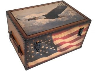 Patriotic Eagle Keepsake Box