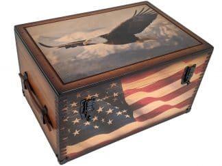 Patriotic Eagle Keepsake Box