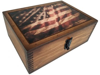 American Flag Challenge Coin Display Case