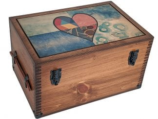 Stained Glass Heart Keepsake BOx