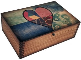 Stainglass Heart Memory Box
