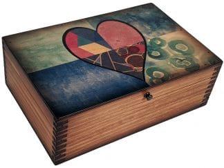 Stainglass Heart Memory Box
