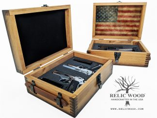 Wooden Pistol Display Case