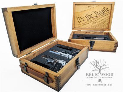 Wooden Handgun Case