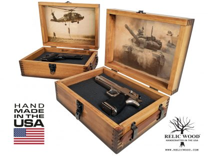Military Gift Pistol Display Case