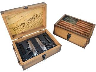 US Flag Constitution Pistol Case