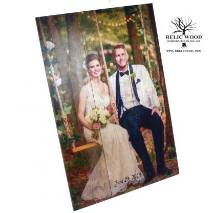 Custom Wedding Photos on Wood