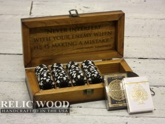 Laser Engraved Travel Poker Set