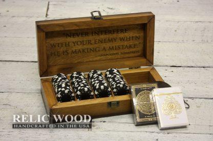 Laser Engraved Travel Poker Set