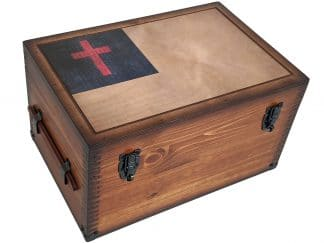 Christian Flag Keepsake Box Home Decor Accents