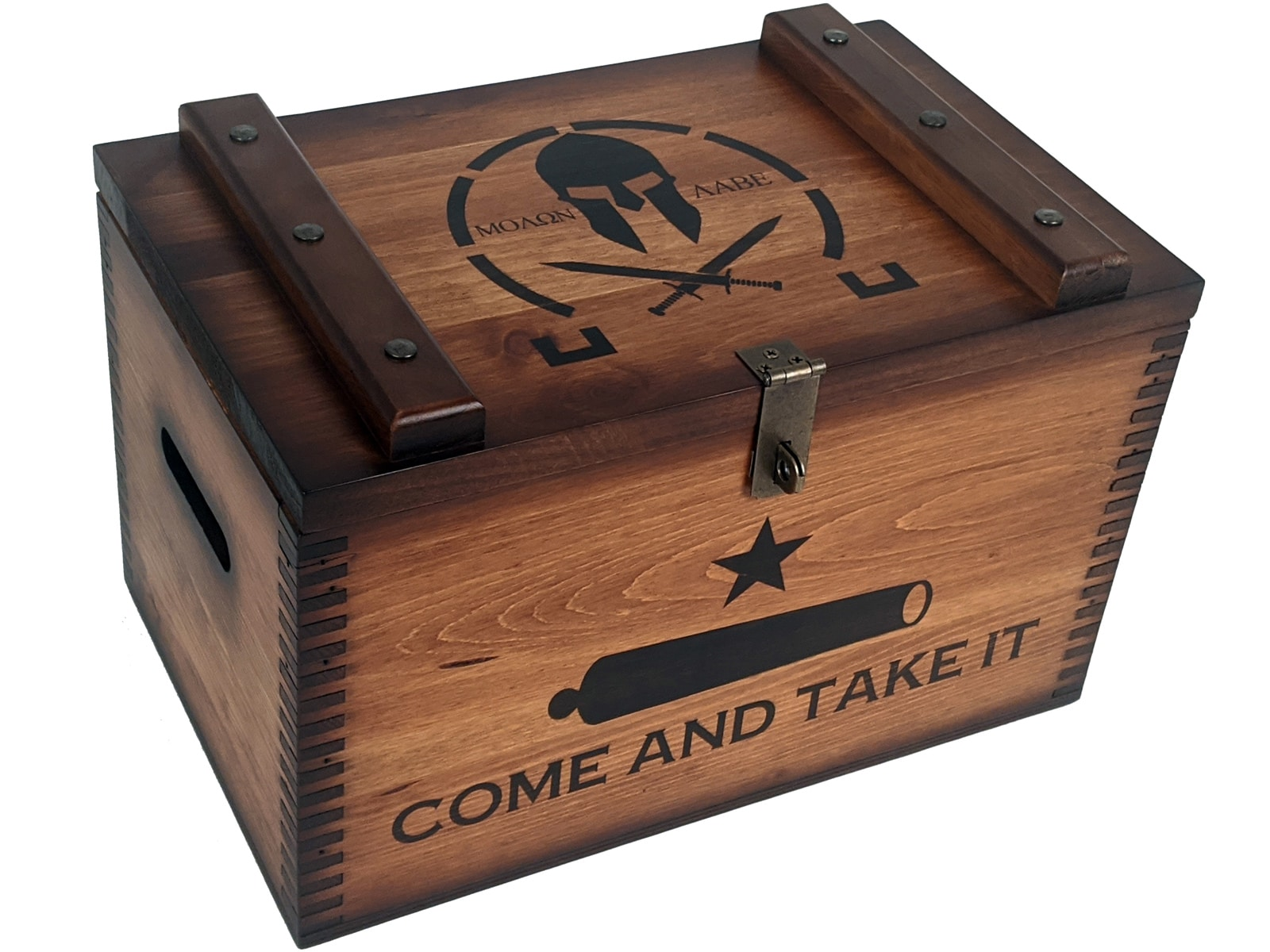 Come And Take It Ammo Box Relic Wood