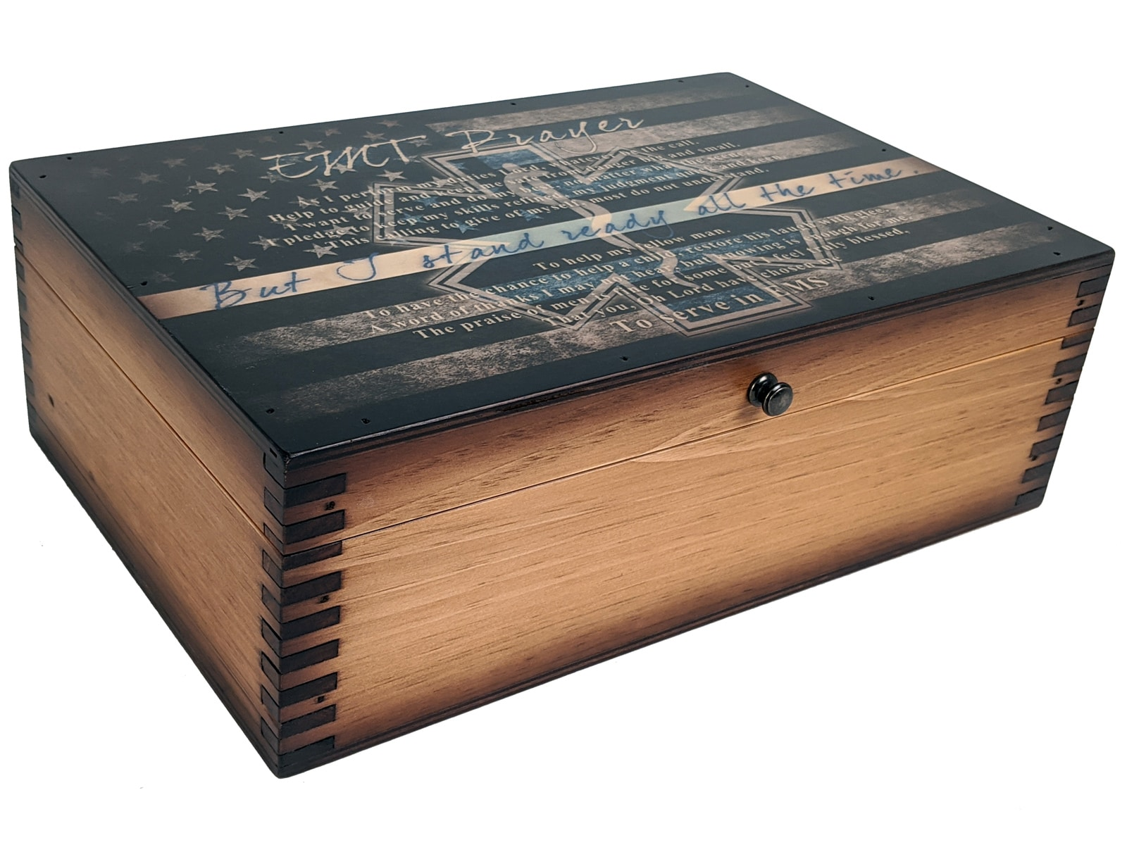 Emt Prayer Memory Gift Box Relic Wood