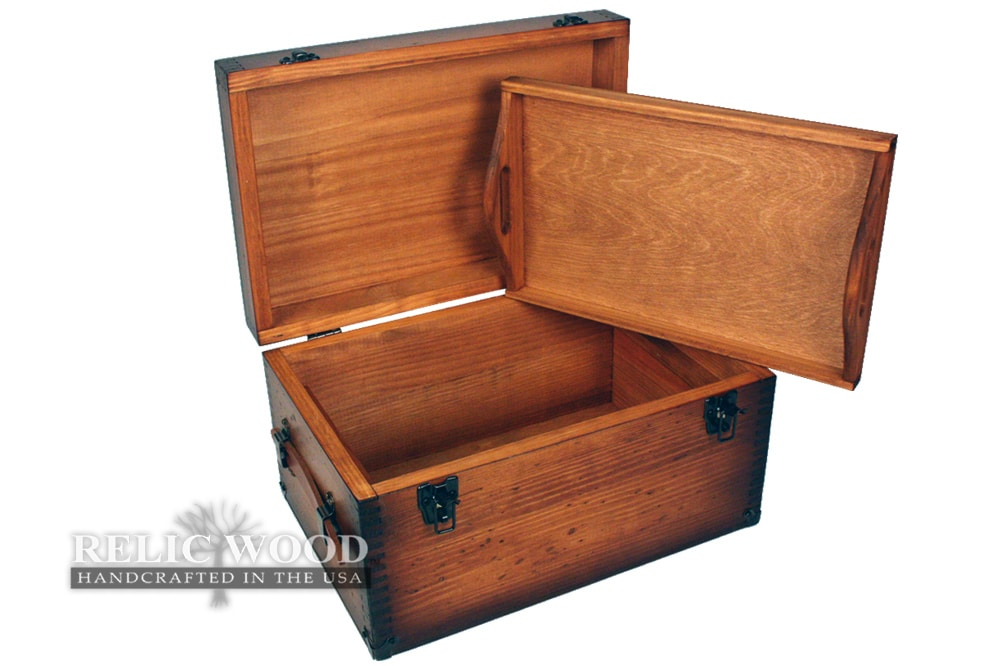Custom Large Keepsake Box Relic Wood