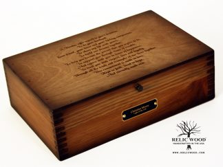Laser Engraved Memory Box