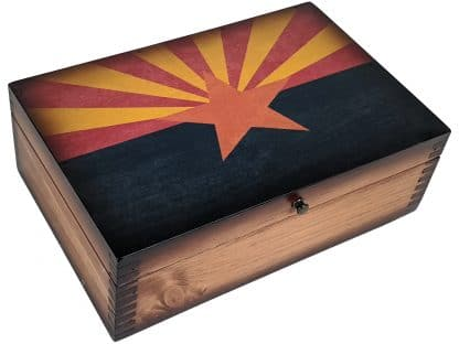 Arizona State Flag Wooden Memory Box
