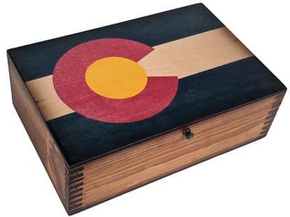 Colorado State Flag Memory Box