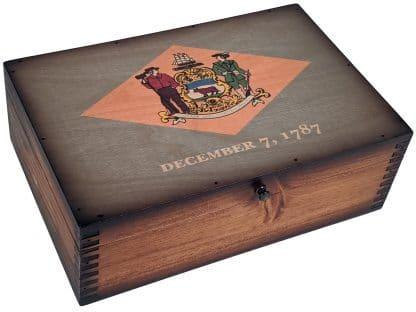Delaware State Flag Memory Box