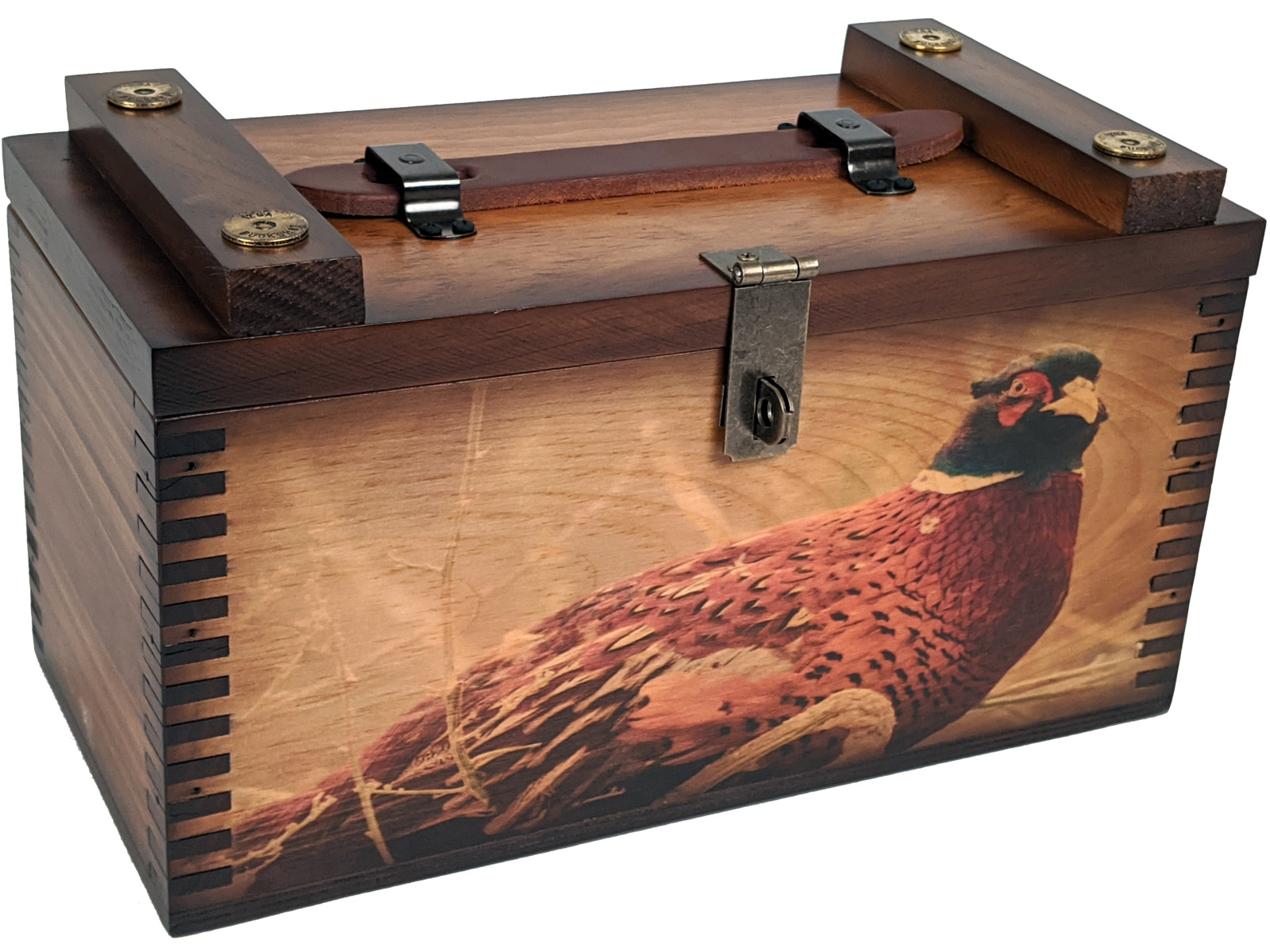 Male Pheasant Shooter's Box - Relic Wood