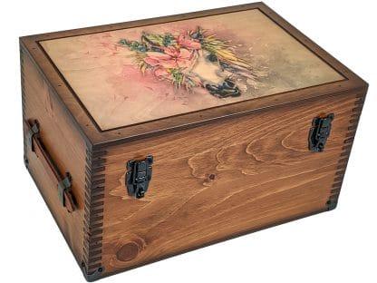 Watercolor Unicorn Keepsake Box